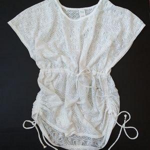 Catalina 2xl crotched lace knit swim coverup